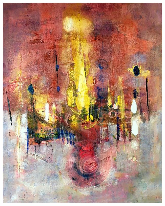 Ritorno del tempo circolare, 2015, olio, 86 x 105 cm