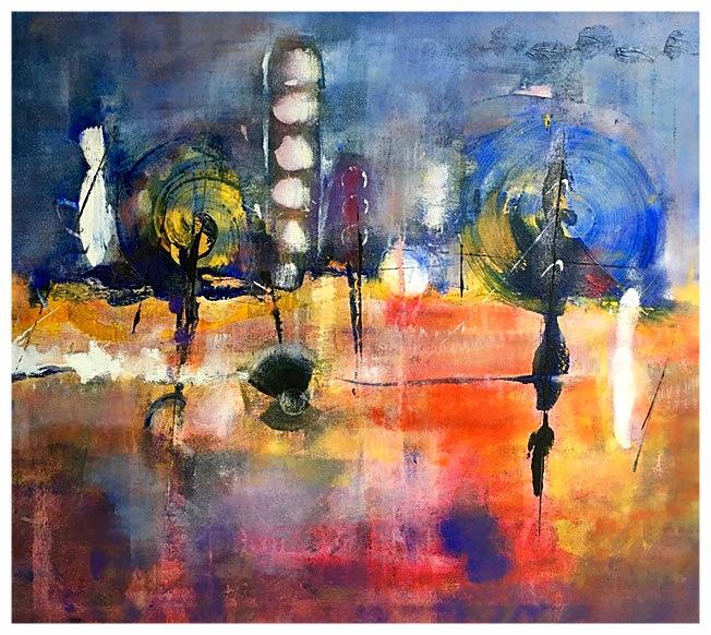 Mutamenti rivelati, 2015, olio, 95 x 86 cm