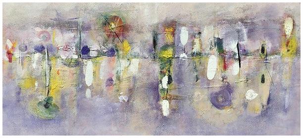 Chiarore e melodia lontana, 2015, olio, 124 x 62 cm