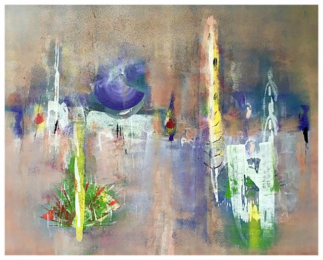 La voix de rêve, 2016, tecnica mista, 99 x 87 cm
