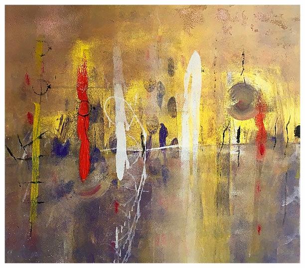 Chiara percezione, 2015, tecnica mista, 82 x 92 cm