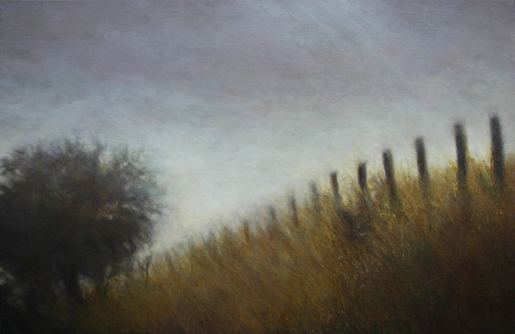 la lisière - acrylique sur bois - 40x61 cm - 2012 - M.Pavlïn