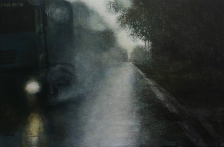 RN60, camion - acrylique sur bois - 40x61 cm - 2010 - M.Pavlïn