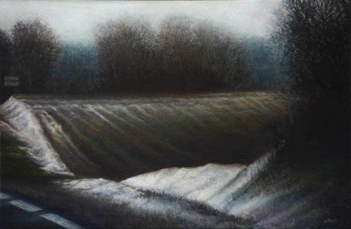RN10, vague de terre - acrylique sur bois - 40x61 cm - 2010 - M.Pavlïn