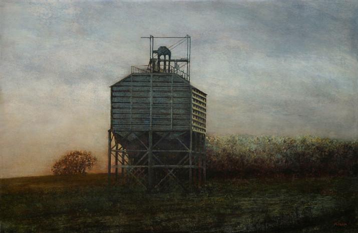 D373, silo - acrylique sur bois - 40x61 cm - 2010 - M.Pavlïn