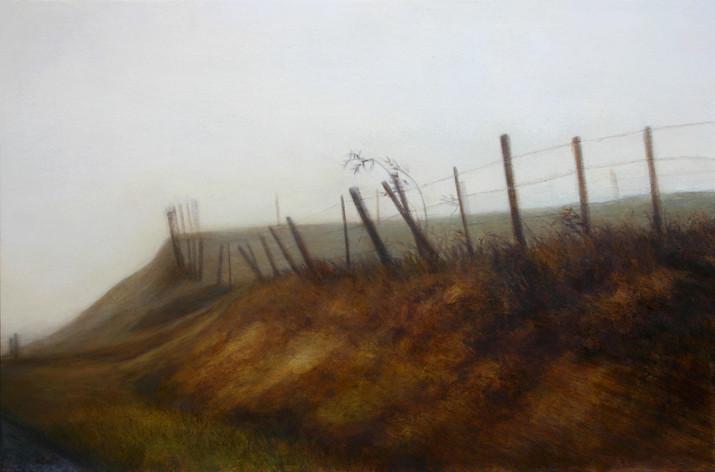 D41, talus - acrylique sur bois - 40x61 cm - 2012 - M.Pavlïn