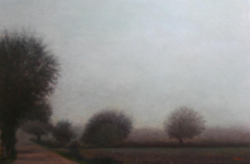 Meredith's Compostela - acrylique sur bois - 40x61 cm - 2015 - M.Pavlïn