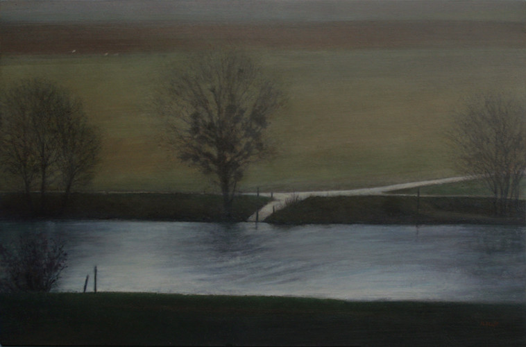 D969, la Marne - acrylique sur bois - 40x61 cm - 2015 - M.Pavlïn