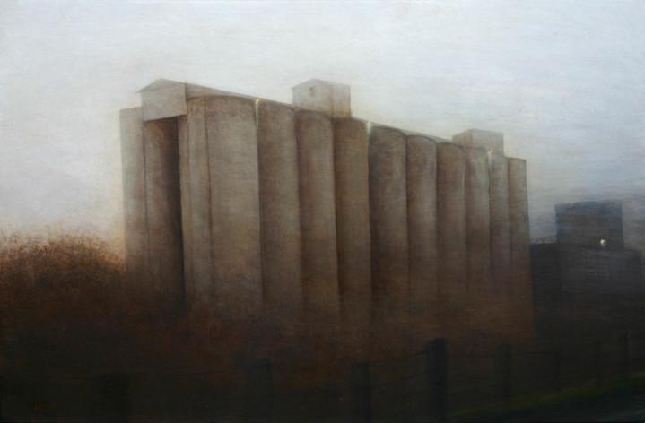 silo de Montmirail - acrylique sur bois - 40x61 cm - 2012 - M.Pavlïn