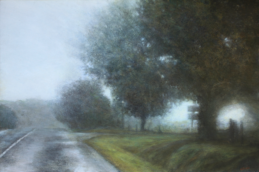 Réchappé - acrylique sur bois - 40x61 cm - 2017 - M.Pavlïn