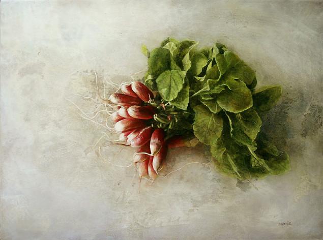 radis - acrylique sur bois - 30x50 cm - 2007 - M.Pavlïn