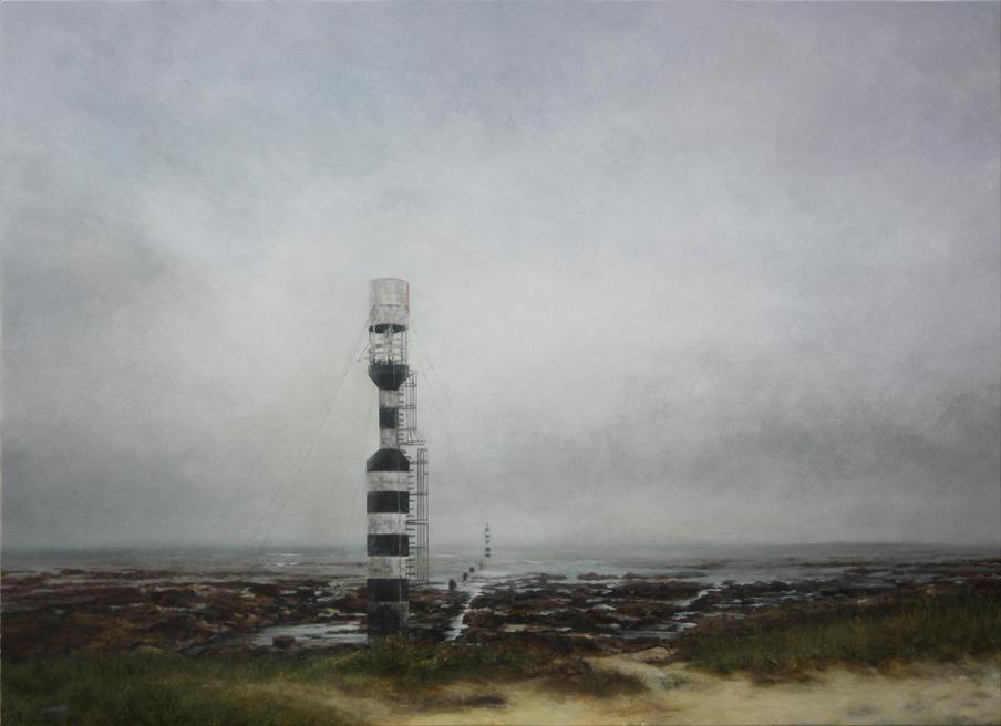 Balise de Penmarc'h - acrylique sur bois - 80x110 cm - 2020 - M.Pavlïn