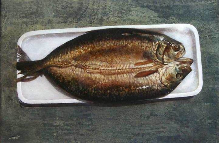 Hareng fumé- acrylique sur bois - 31,2x45,2 - 2007 - M.Pavlïn