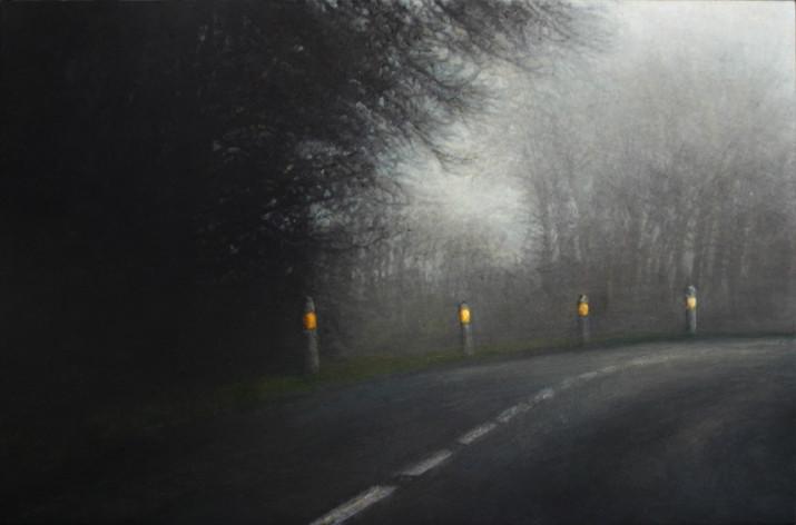 le virage - acrylique sur bois - 40x61 cm - 2012 - M.Pavlïn