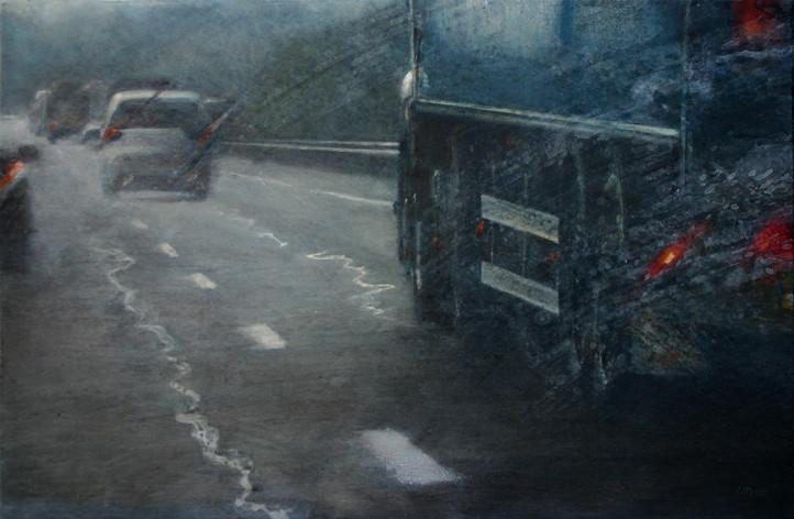 A7, camion - acrylique sur bois - 40x61 cm - 2013 - M.Pavlïn