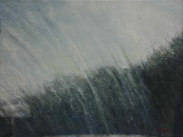 traces d'essui-glace - acrylique sur bois - 20x26,5 cm - 2013 - M.Pavlïn