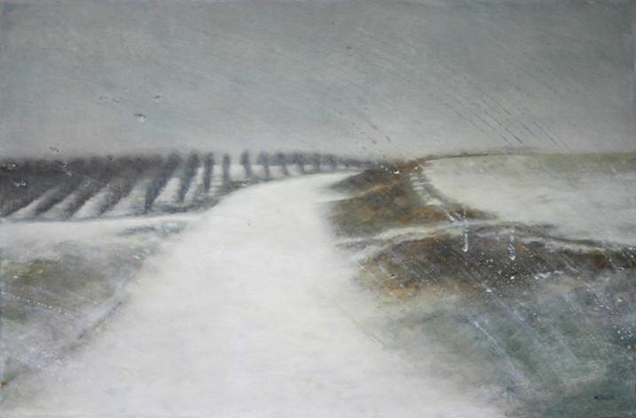 Neige - acrylique sur bois - 40x61 cm - 2010 - M.Pavlïn