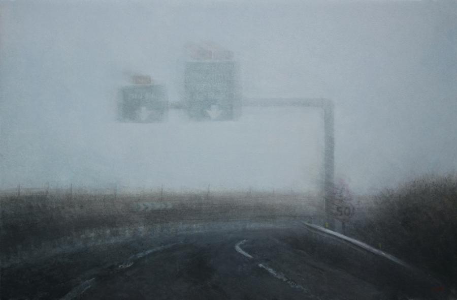 Au revoir monsieur Courbet - acrylique sur bois - 40x61 cm -2018 - M.Pavlïn