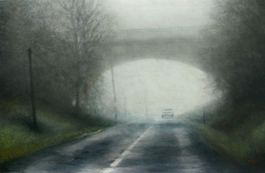 Le pont - acrylique sur bois - 40x61 cm - 2015 - M.Pavlïn