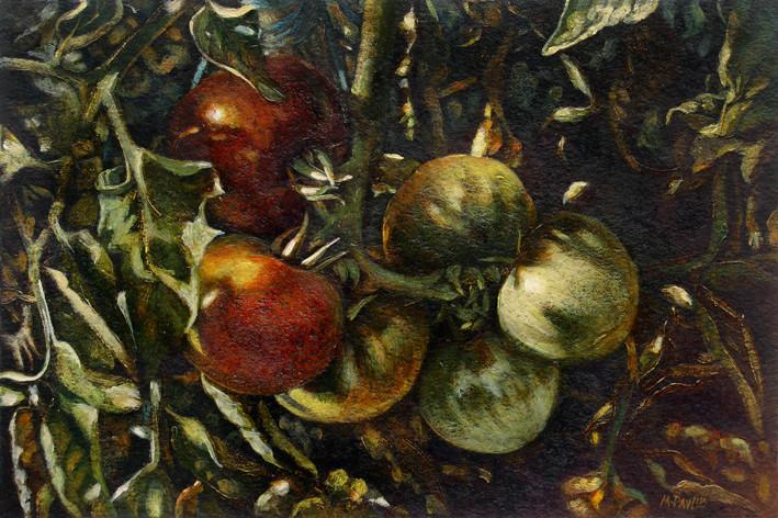 Tomates - acrylique sur papier - 2009 - M.Pavlïn