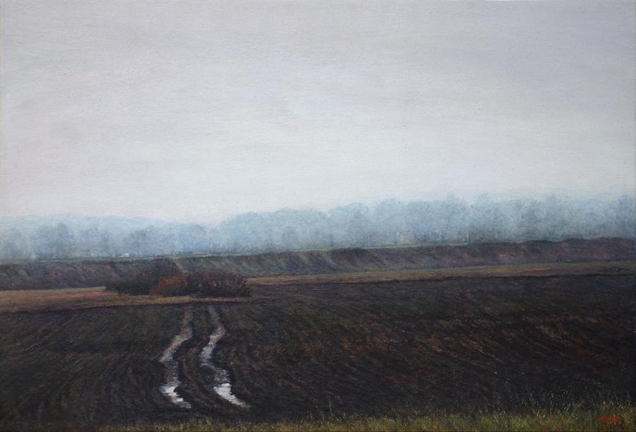 La Baie de Somme - acrylique sur bois - 41x60 cm - 2016 - M.Pavlïn