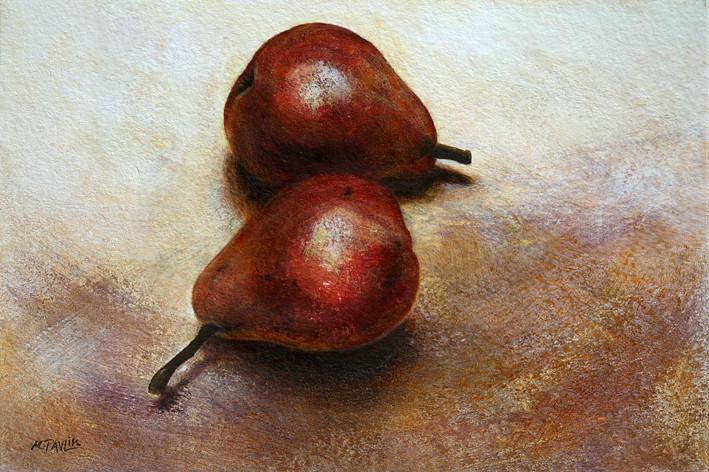 Poires - acrylique sur papier - 2009 - M.Pavlïn