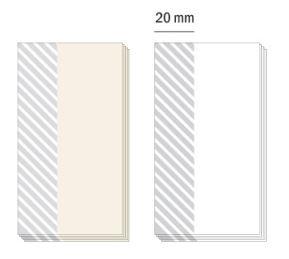 Stickypad-Kleberbereich