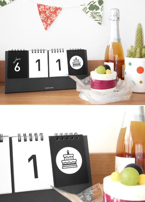 Kalender Dekoration