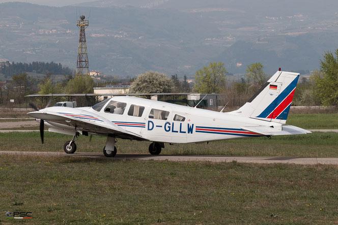 D-GLLW Piper PA-34-220T Seneca II @ Aeroporto Verona Boscomantico © Piti Spotter Club Verona