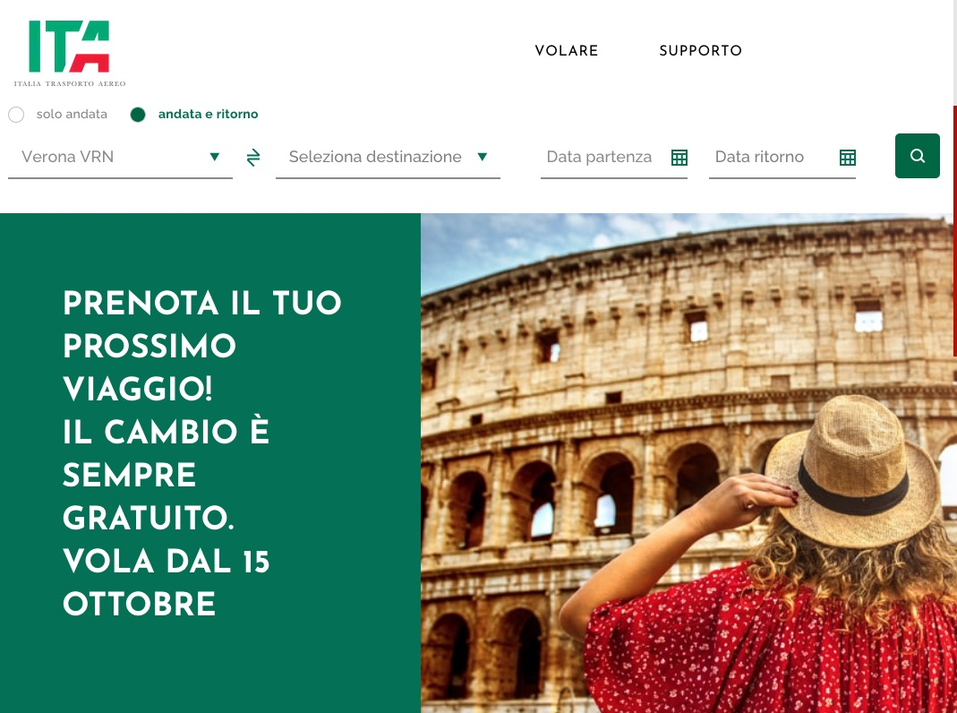 ITA - Italia Trasporto Aereo e l'operativo su Verona