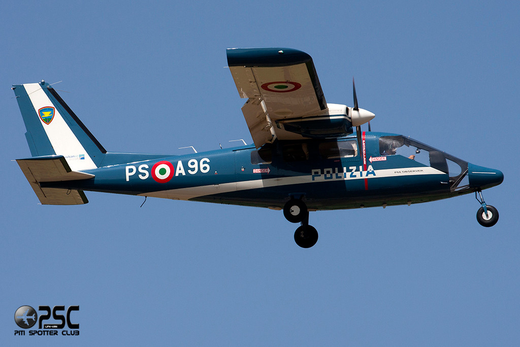 More: Italy - Polizia - Partenavia P-68 OBS Observer - PS-A96 (cn 337-024-OBS)
