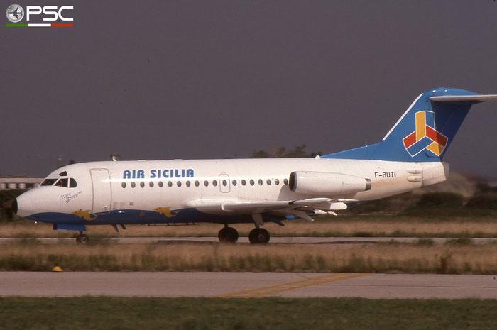 F-BUTI  F28-1000  11034  Air Sicilia  @ Aeroporto di Verona © Piti Spotter Club Verona