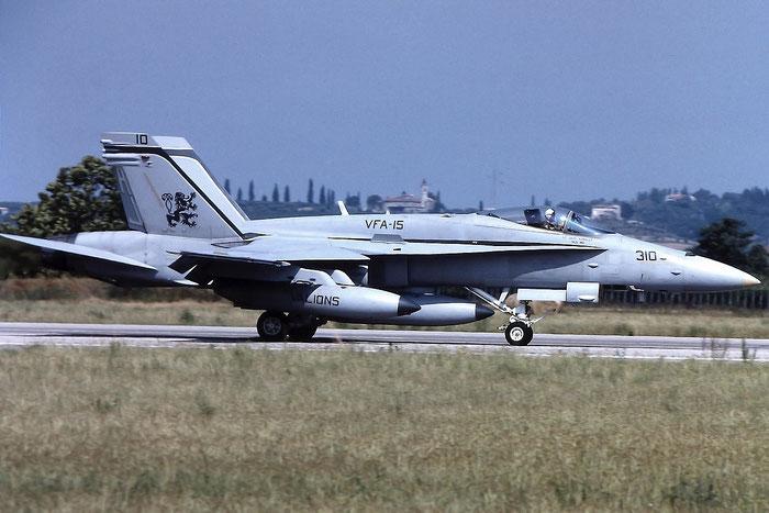 163125  AJ-314  F/A-18A  530/A439  VFA-15 @ Aeroporto di Verona   © Piti Spotter Club Verona