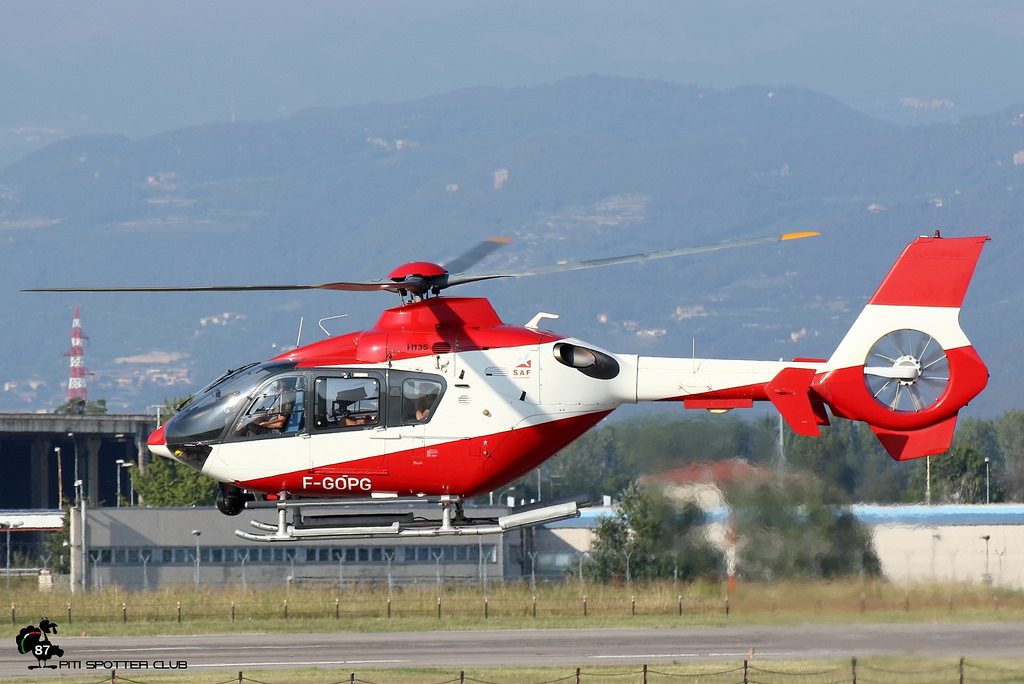 F-GOPG SAF Hélicoptères Eurocopter EC135 T1 · SAF Hélicoptères @ Aeroporto di Verona - 24/09/2016 © Piti Spotter Club Verona