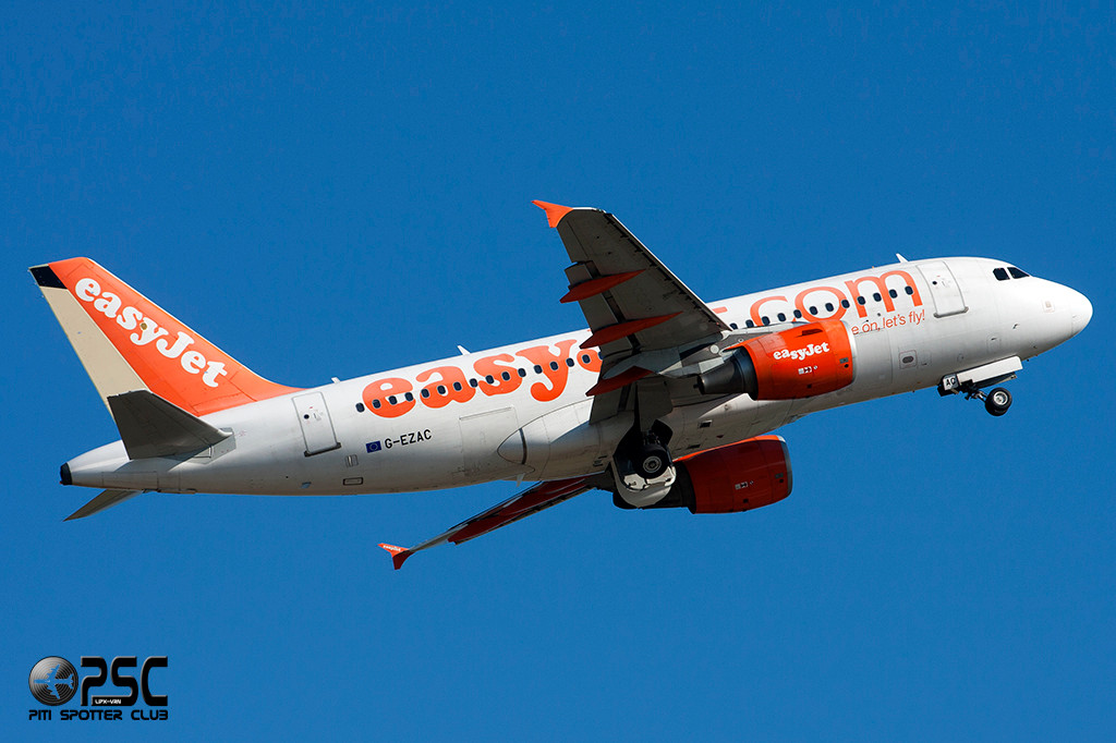 Airbus A319 - MSN 2691 - G-EZAC  Airline EasyJet (tail color)