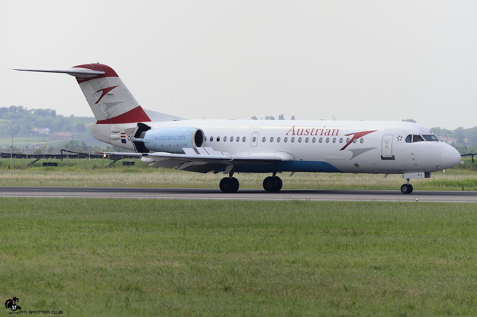 OE-LFJ Fokker 70 11532 Austrian Airlines