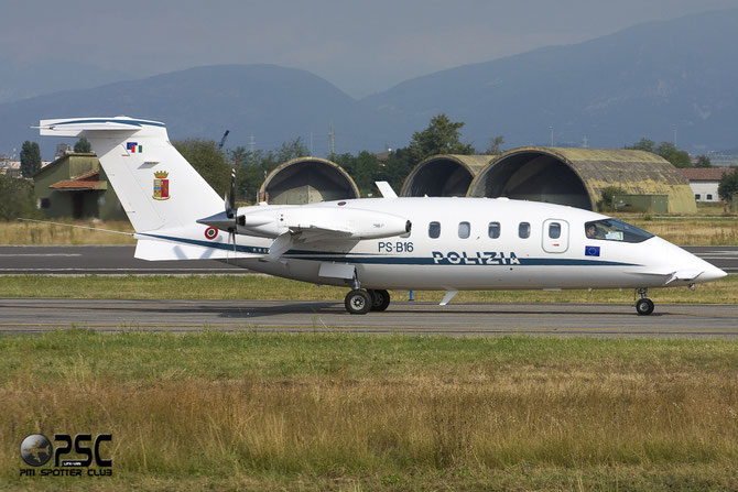 Italy - Police Piaggio P-180 Avanti II - MM62275 @ Aeroporto di Verona © Piti Spotter Club Verona