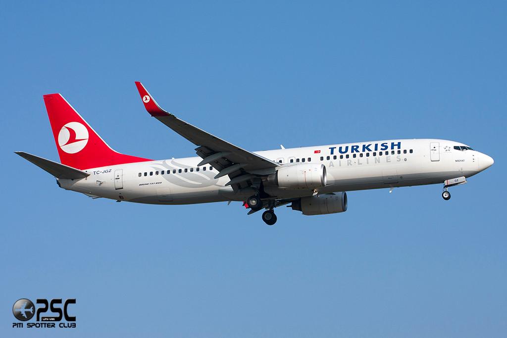 Boeing 737 Next Gen - MSN 35739 - TC-JGZ  Airline THY Turkish Airlines