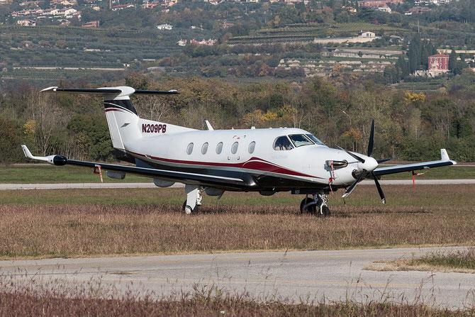 N209PB - Pilatus PC-12 @ Aeroporto Verona Boscomantico © Piti Spotter Club Verona