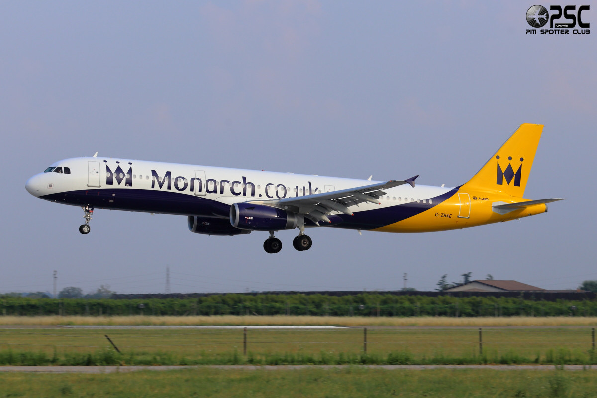Airbus A321 - MSN 5606 - G-ZBAE  Airline Monarch Airlines