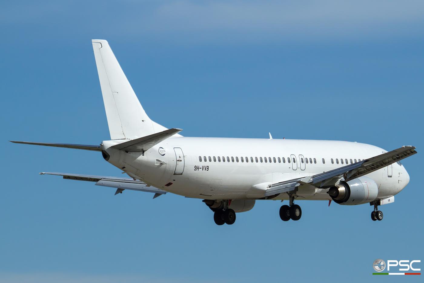 9H-VVB B737-4K5 24901/1854 VVB Aviation Malta