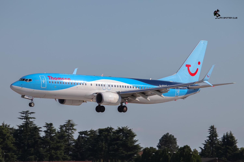 G-FDZX B737-8K5 37258/3655 Thomson Airways