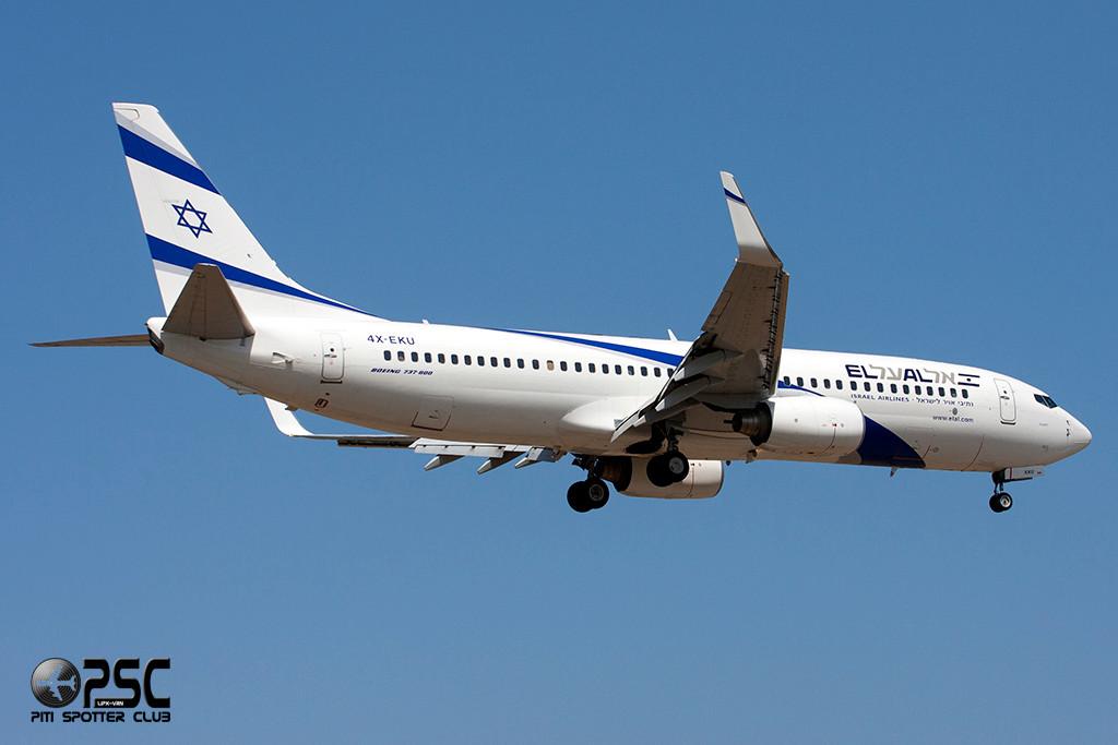Boeing 737 Next Gen - MSN 33834 - 4X-EKU  Airline El Al