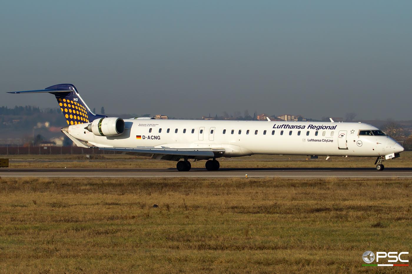 D-ACNG CRJ900LR 15245 Lufthansa CityLine @ Aeroporto di Verona - 30.12.2016  © Piti Spotter Club Verona