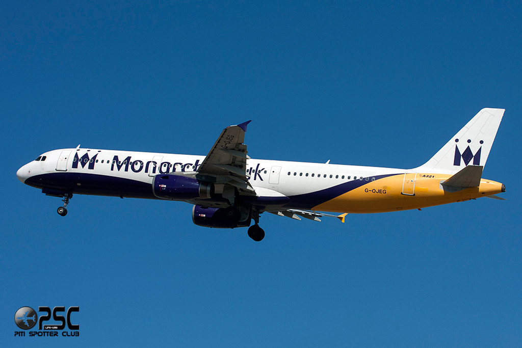 Airbus A321 - MSN 1015 - G-OJEG  Airline Monarch Airlines