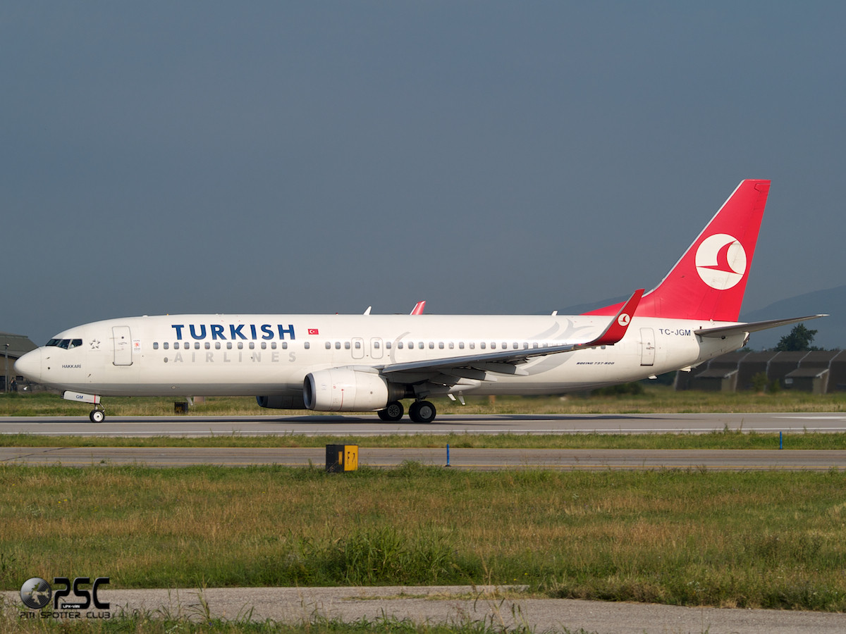 Boeing 737 Next Gen - MSN 34411 - TC-JGM  Airline THY Turkish Airlines