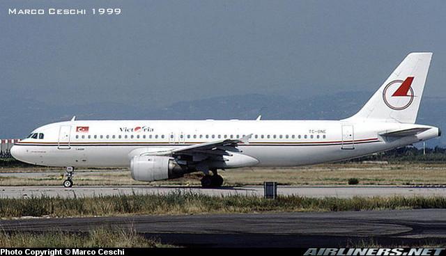 TC-ONE  A320-212  528  Victoria Airlines  @ Aeroporto di Verona © Piti Spotter Club Verona