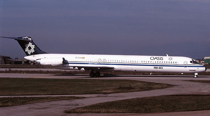 EC-EXX  MD-83  49398/1332  Oasis International Airlines  @ Aeroporto di Verona © Piti Spotter Club Verona