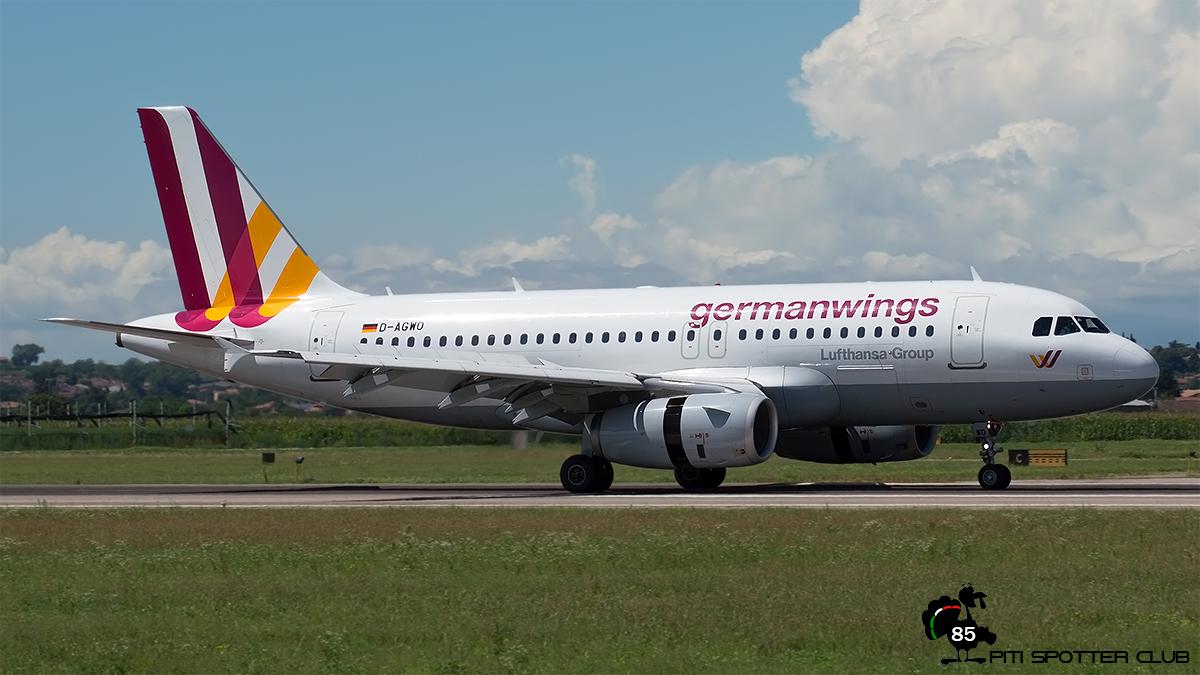 D-AGWO A319-132 4166 Germanwings @ Aeroporto di Verona - 10/08/2016 © Piti Spotter Club Verona