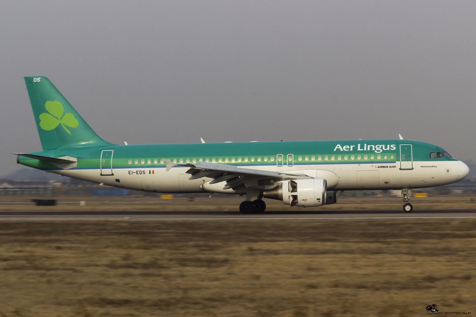 EI-EDS A320-214 3755 Aer Lingus @ Aeroporto di Verona - 28.01.2017  © Piti Spotter Club Verona